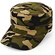 Unisex Flat Top Gorra De Béisbol Hombres Mujeres Algodón Cómodo Béisbol Sombrero del Ejército Gap Moda