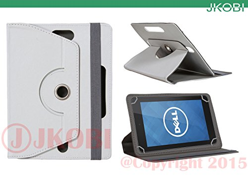 Jkobi 360° Rotating Front Back Tablet Book Flip Flap Case Cover Compatible For Dell Venue 7 3000 -White  available at amazon for Rs.290