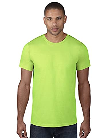 980=Anvil Adult Fashion T-Shirt Colour=Neon Green Size=2XL