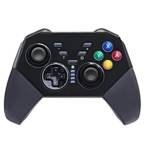 JFUNE Wireless Controller für Nintendo Switch 9.0, Pro Controller Bluetooth Gamepad Controller Doppelmotor Axis Gyro Turbo Kompatibel mit Nintendo Switch/PC (Schwarz)