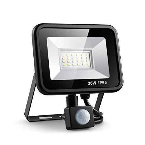 Strahler Flutlicht 20W Im Freien Führte Flutlicht-Scheinwerfer Mit Wasserdichtem Wand-Garagen-Licht Pir-Bewegungs-Sensor-220V - Flut-licht Führte Bewegungs-sensor