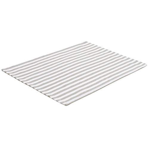 FILU Tischset 4 Stück Grau/Weiß gestreift (Farbe und Design wählbar) 33 x 45 cm - hochwertig gefertigte Platzsets aus 100% Baumwolle im skandinavischen Landhaus-Stil -