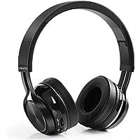 Cascos Bluetooth Inalámbricos – LinkWitz Auriculares Bluetooth Plegables con Estéreo Hi-Fi,Micro Incorporado para iPhone,Samsung,Tablets y Android(Negro)
