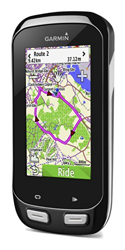 Garmin Edge 1000 Touchscreen GPS Bike Computer with Premium Heart Rate Monitor, Speed and Cadence Sensors – Black