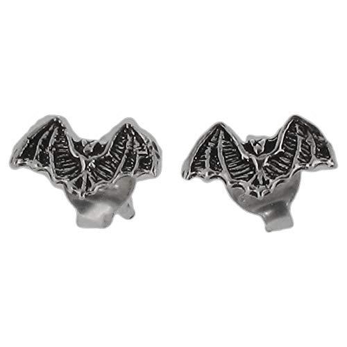 ling Silber 925 Fledermaus-Motiv Ohrstecker Ohrringe mit oxidierten Details ()
