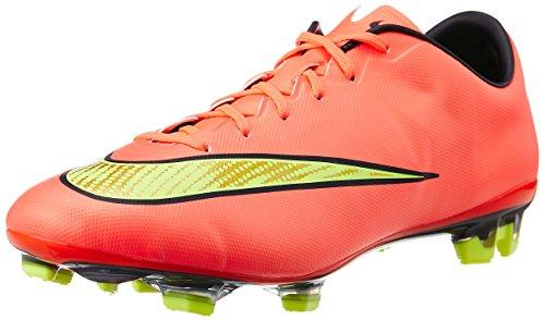 Nike Mercurial Veloce II FG Herren Fußballschuhe Rot (Hyper Punch/Metallic Gold Coin-Black-Volt)