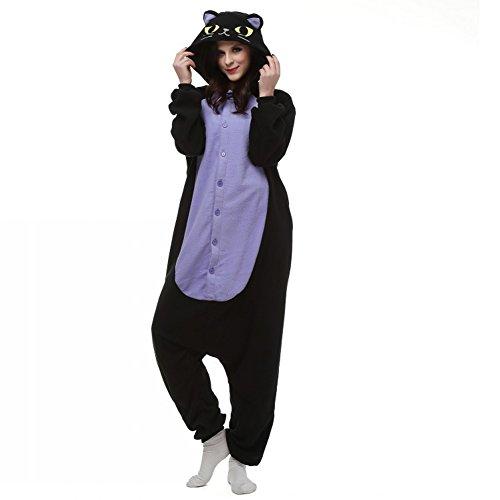 Pyjama Chat De Minuit Combinaisons Animaux Femme Homme Grenouillère Kigurumi Adulte Pyjamas Costume Onesie XL