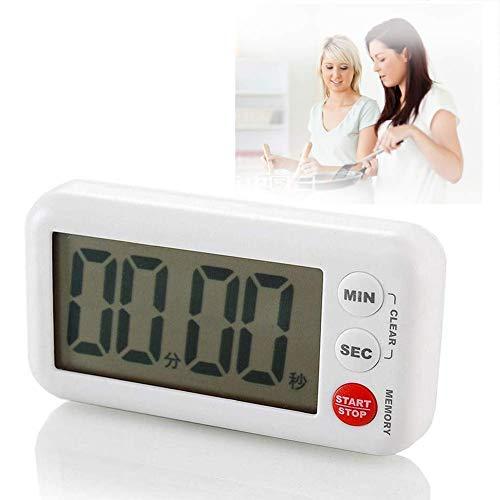LJXWYQ Digitaler Küchentimer, 99 min 59 sec Countdown, magnetischer Erinnerungstimer mit großem Bildschirm,Ideal Küchenuhr Timer zum Kochen, Backen, Sport, Studieren usw.