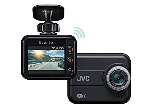 JVC KENWOOD GC-DR20 Dashcam with WiFi, Full HD, Shock Sensor, LED Signal Support, WDR and microSDHC Card Included [Japan Genuine Product][Black]