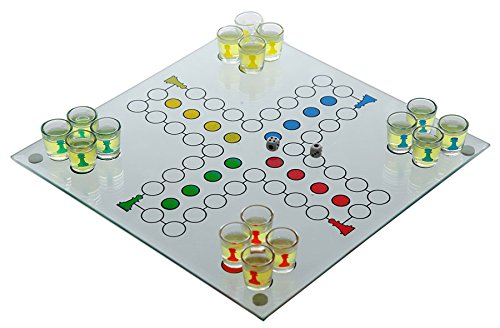 Trinkspiel aus Glas Saufspiel Partyspiel Würfelspiel Spiel Party Drinking Game