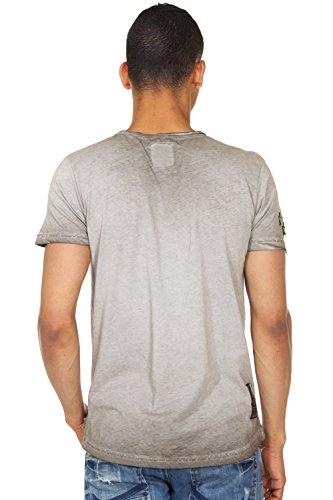 R-NEAL T-Shirt Rundhals slim fit Anthrazit