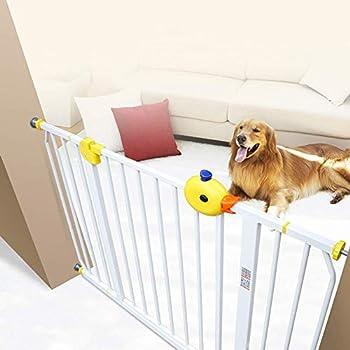 PNFP Baby Gates Blanc Baby Gates avec Rampe d'escalier, Extra Large 75-174cm, barrière d'accès sans Porte for Chien de Compagnie for Couloir et Porte (Size : 115-124cm)