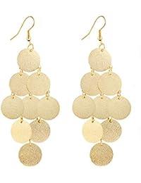 f1d3d2999b05 Beisoug 1Pair Women Alloy Circular Dangle Earings Eardrop Jewelry