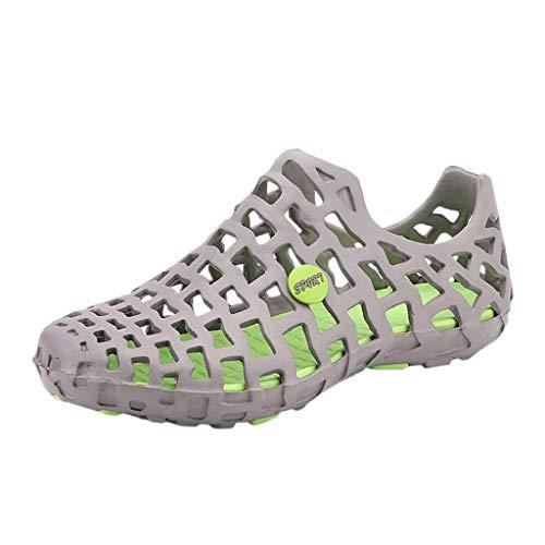 sandalen mädchenUnisex Klassische Freizeitschuhe Paar Strand Sandale Flip Flops Schuhe(38, Grau) -