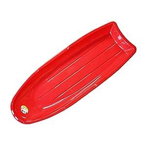 ERLIANG Einzelner Snowboard-Schlitten mit übergroßem Übermaß – Skating (rot ohne Seil)