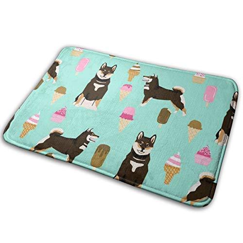 best pillow Shiba Inu Black and Tan Coat Ice Cream Dog Breed Pure Breed Minty Blue_27924 Doormat Entrance Mat Floor Mat Rug Indoor/Outdoor/Front Door/Bathroom Mats Rubber Non Slip 23.6