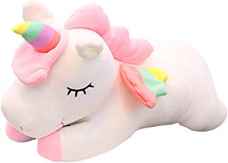TOYMYTOY Unicorn Plush Toy Stuffed Animal Pillow Cushion Soft Toys for Baby Kids 30cm (Pink)