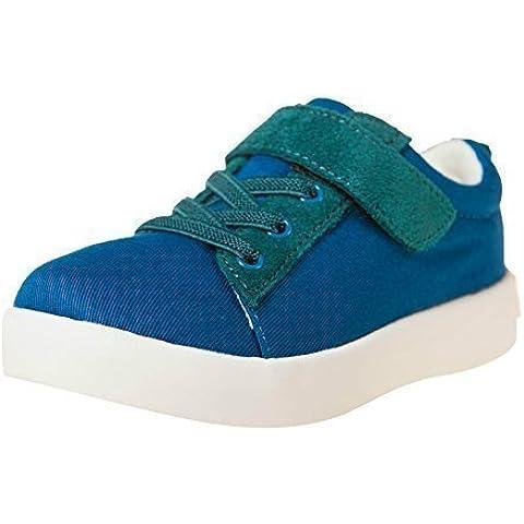 Little Blue Lamb Zapatillas Bajas 7120 Lona & Azul cuero verde
