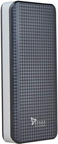 Syska 10000 mAh Power Shell100 Power Bank (Black-Grey)