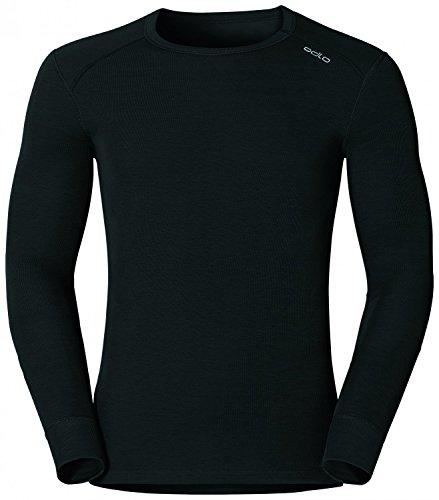 Odlo Herren Langarm Tshirt Crew Neck Warm, schwarz(schwarz), L