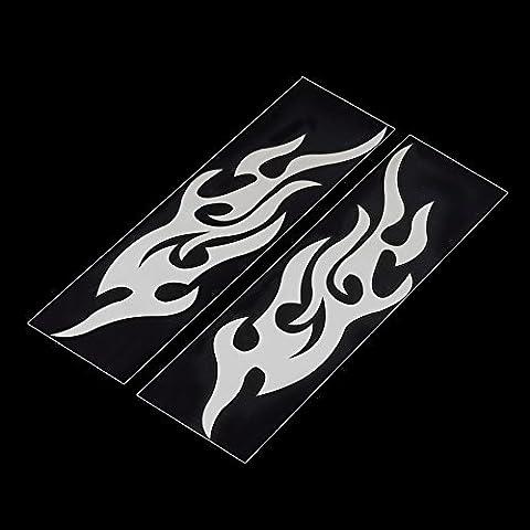 aridox (TM) universel de voiture sticker style capuche Moteur de moto en Decor Papier peint en vinyle Housses Accessoires automatique Flame Fire Hot Vendre