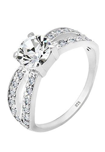 Elli Damen Ring Swarovski Kristall Silber 0610772511_54