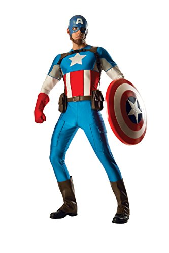 Rubie 's Offizielles Marvel Captain America Kostüm GRAND Heritage Deluxe–Herren Erwachsene (America Große Captain Kostüme)