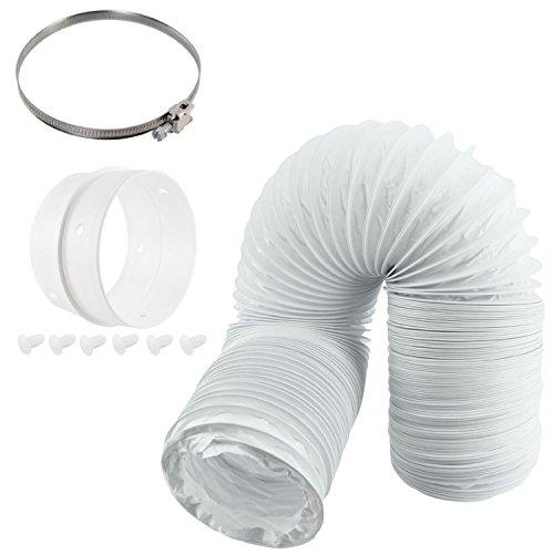 Spares2go Universal-Entlüftungsschlauch und Zwischenring für belüftete Trockner mit 10cm Durchmesser -