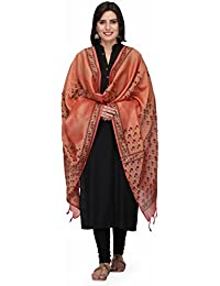 The Weave Traveller Handloom 2.25 Meter Red Floral Hand Block Printed Cotton Dupattas For Women & Girl's