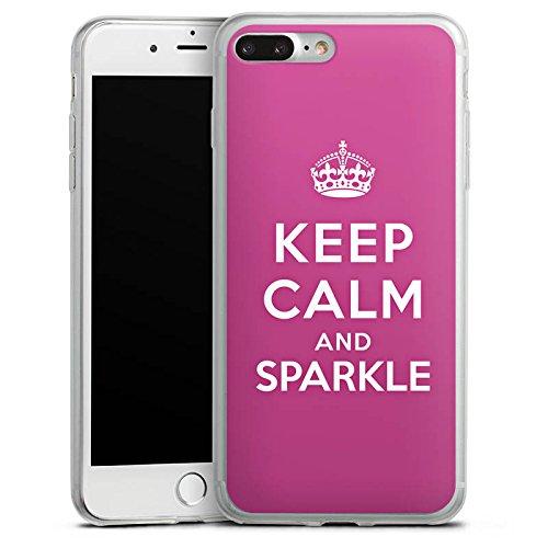 Apple iPhone 8 Slim Case Silikon Hülle Schutzhülle Keep calm and sparkle Mädchen Sprüche Silikon Slim Case transparent