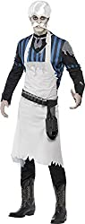 Smiffy's Men's Ghost Town Bar Keeper Costume Top Apron and Belt with Shot Glass Holders, Multi, Large