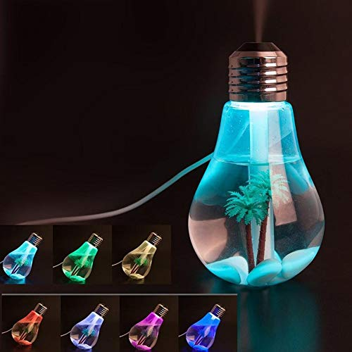 DHRUVSTAR Air Freshener Bulb Humidifier With LED Night Light For Car Home And Office (Multi Color