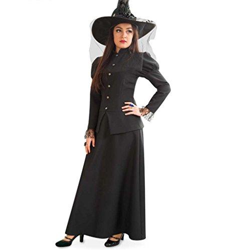 Für Mystische Erwachsene Zauberer Kostüm - KarnevalsTeufel Damen-Kostüm Hexe Misty in Schwarz Halloween Walpurgisnacht Geisterstunde Hex Hex (40)