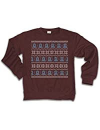 Polar Bear Christmas Patter Jumper Para Hombre y Mujeres Unisexo Fit Funny Christmas Sweater Suéter