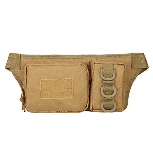 Multifunktionale Outdoor Fitness Sport Taille Taschen Mehrfarbig Brown