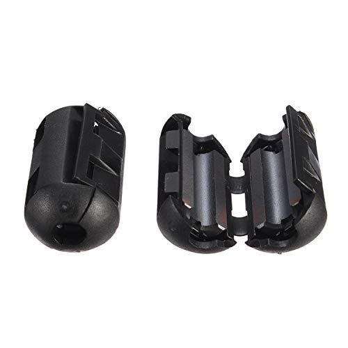 Black Cable Wire Snap Clamp Clip RFI EMI EMC Noise Filters Ferrite Core Case 3.5-9mm Ferrit-snap