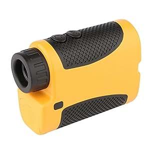 Excelvan Laser Télescope Télémètre pour Golf Testeur Distance Multifonctions Compteur Mesure Distance / Angle 1200m Jaune