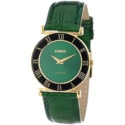 Jowissa Women's J2.045.M Roma Gold PVD Green Roman Numeral Watch