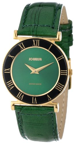 Jowissa Women's J2.045.M Roma Gold PVD Green Roman Numeral Watch