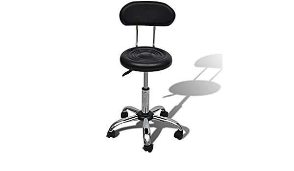 Festnight sgabello parrucchiere con ruote sedia girevole per