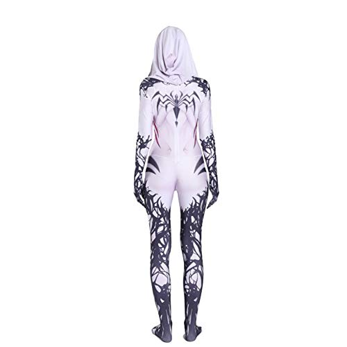 ASJUNQ Gwen Weibliche Spider-Man Anime Kostüm Halloween Cosplay Siamesische Strumpfhosen Fancy Dress Party Thema Party Filmrequisiten,Child-M