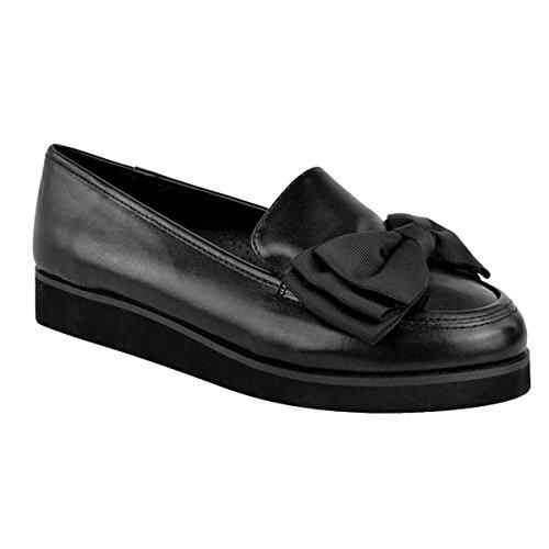Unknown , Ballerines pour fille Noir - Black Faux Leather