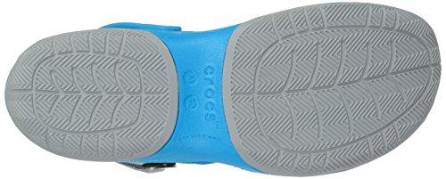 Crocs Swiftwater Deck Clog M Ocn/Lgr, Sabots Homme Bleu (Ocean/Light Grey)