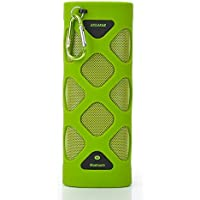 TUTUO MS-319AX portatile Bluetooth 4.0 Speaker, resistente all'acqua antiurto Wireless Mobile Speaker, 10W uscita, microfono integrato, 2000mAh batteria ricaricabile, 12 ore di gioco per Outdoor, Indoor, Sport (Verde)