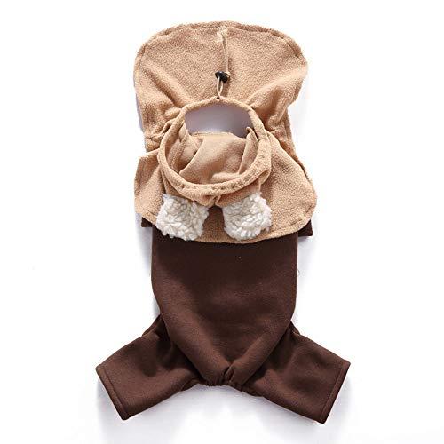 PET Clothes für Welpe Katze Hoodie, Hund Weihnachts-Kostüme, lustige Pet Cosplay Dress, Herbst Winter Warm Jumpsuit Outfit ()