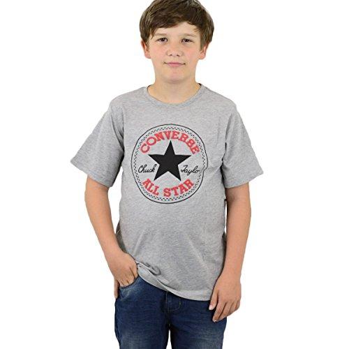 Converse Kinder Chuck Patch T-Shirt Kids grau melange - 140-152