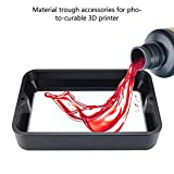 Accessori per stampanti 3D da 5,5 pollici Stampante 3D per fotopolimerizzazione Trogolo in resina Trogolo in resina per stampanti 3D in resina - Nero