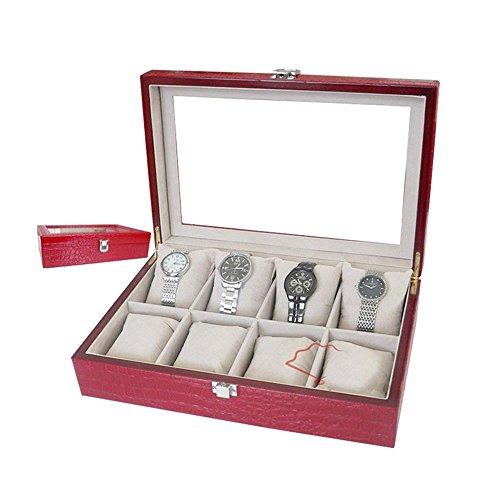 Schmuck-lock-box (Kaxima Anzeige Uhrenbox mit Lock-Leder-Schmuck-box)