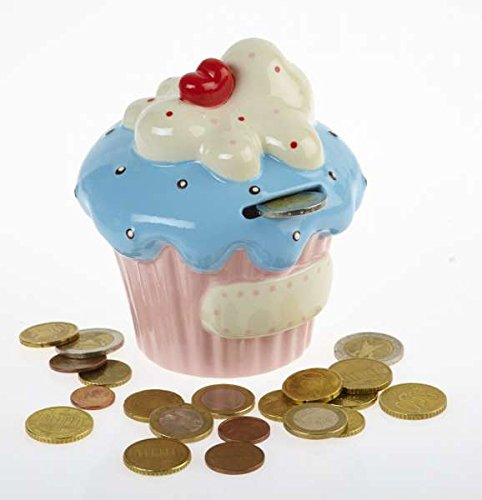 By-Bers Cupcake - die Spardose bunt, in sechs Farben, Spardose, Sparbüchse Sparschwein oder Sparkasse im besonderen Design ...
