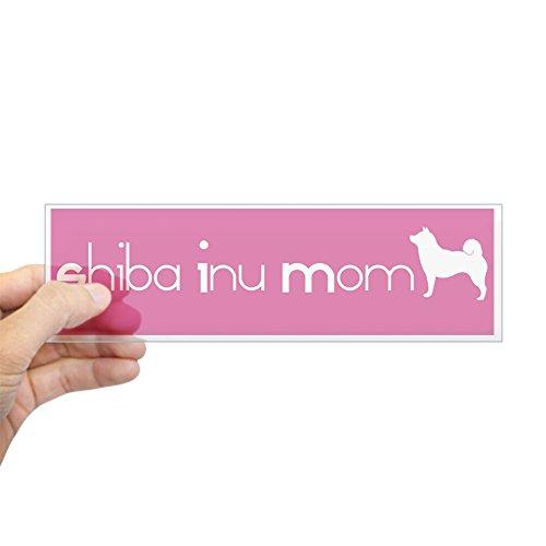 CafePress Shiba Inu Mom Bumper Aufkleber–25,4x 7,6cm Rechteck Bumper Aufkleber Auto Aufkleber Standard Farblos